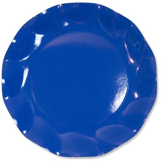 piattini di carta blu
