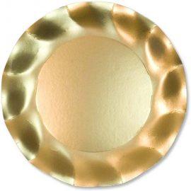 piatti di carta oro