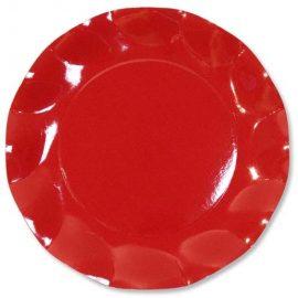piattini di carta rossi