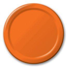 piatti di carta arancioni