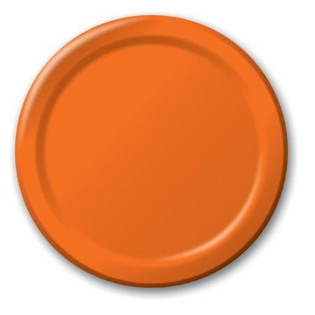 piattini di carta arancioni