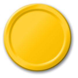 piattini di carta gialli