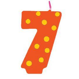 candela compleanno 7 anni