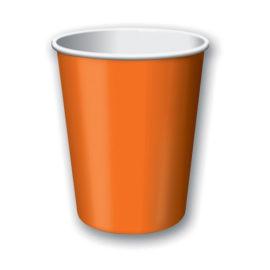bicchieri di carta arancioni