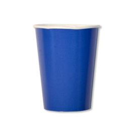 bicchieri di carta blu