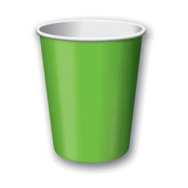 bicchieri di carta verde limone