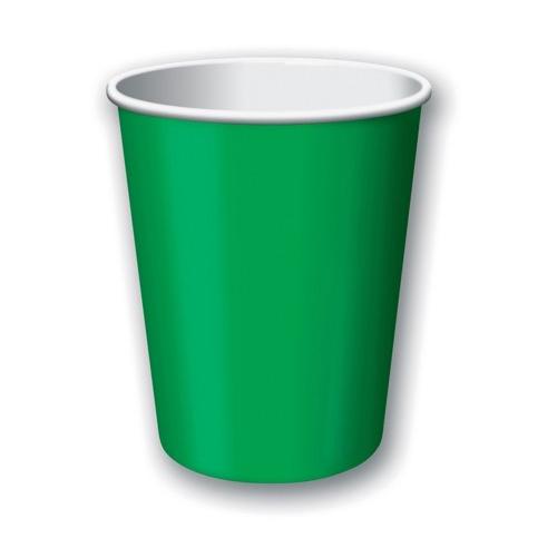 bicchieri di carta verdi