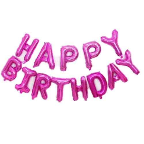 palloncini happy birthday rosa